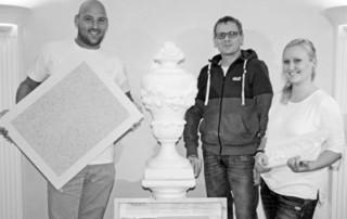 Stuck-Azubi - Kompetenzzentrum für Ausbau und Fassade -Aus- und Weiterbildung - Zeitungsbericht, Stuckateurausbildung